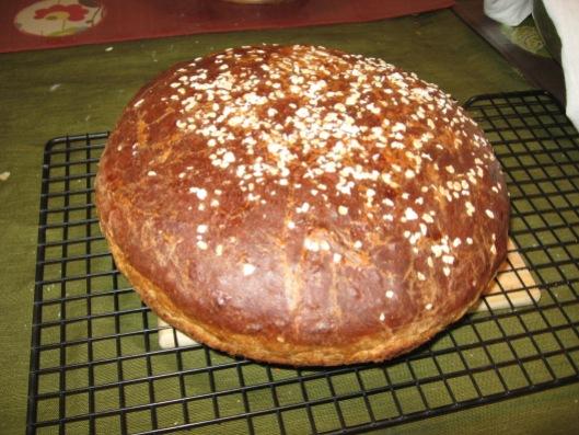 Honey Mustard Oatmeal Bread