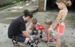 Exploding soda bottles are an amazing amount of fun and are a great science lesson!