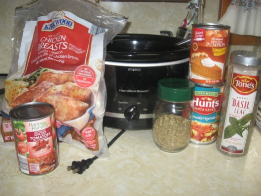 Chicken Pumpkin Spaghetti Sauce